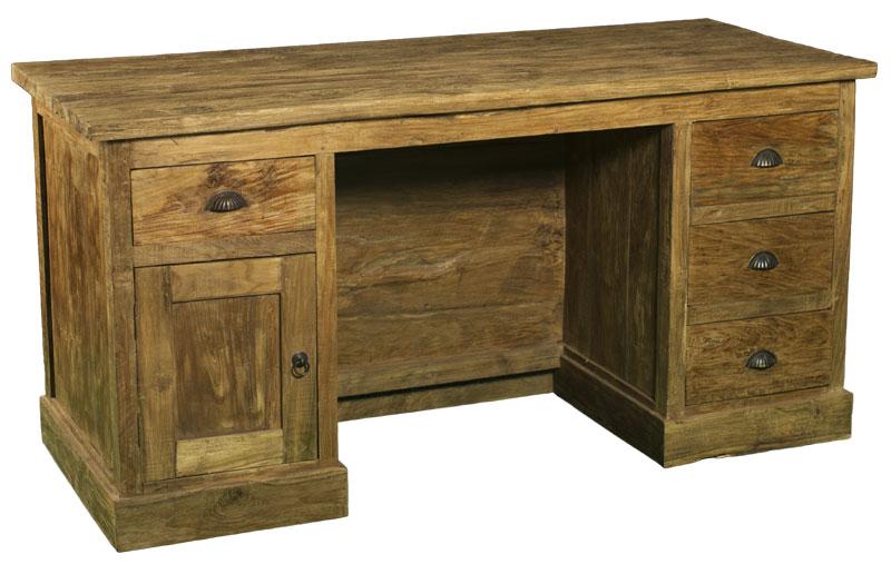 Rustikaler Schreibtisch antika gmbh großhandel für teakholz und landhausmöbel spiegel